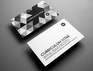 Черно-белая печать визиток