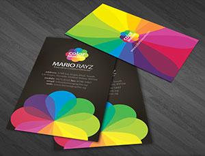 Цветная печать визиток в Ростове